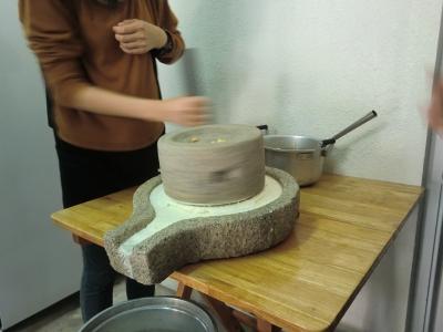 動手磨豆漿
