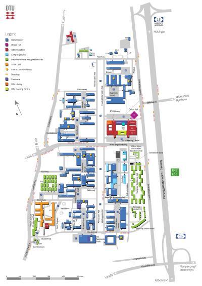 四四方方,佔地極廣的Lyngby主校園